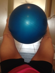 V-Ups with Stability Ball